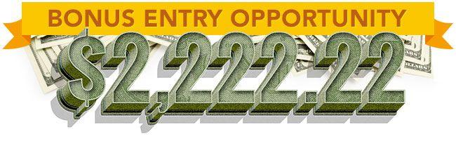 ✅ Charise ➠ You Unlocked A $2222 22 BONUS Entry Opp!