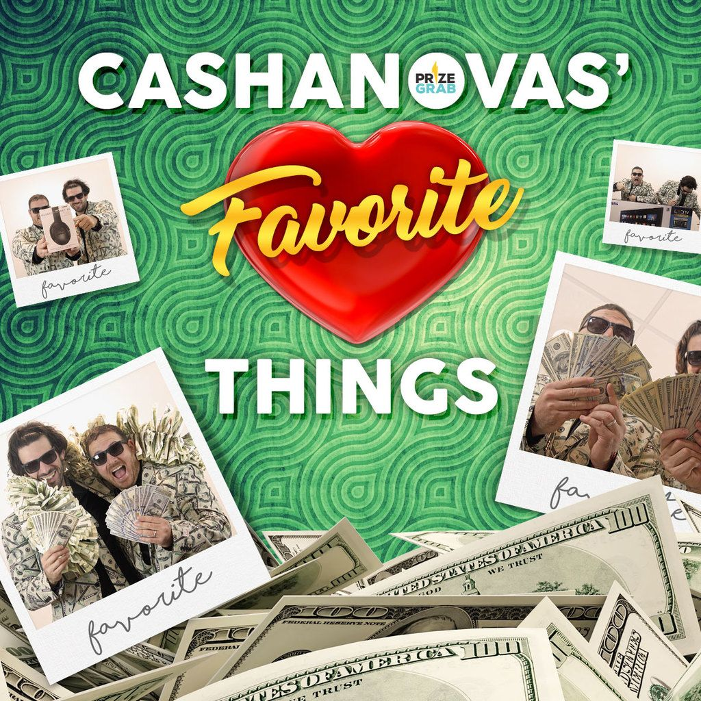 Win the PrizeGrab Cashanovas' Favorite Things Sweepstakes & Giveaway