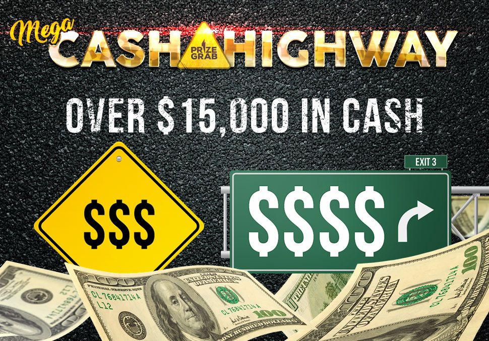 Win the Mega Cash Highway Sweepstakes & Giveaway